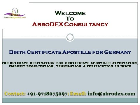 Birth Certificate Apostille for Germany