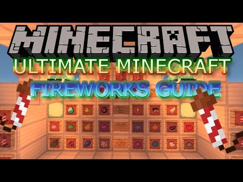 Minecraft Tips/Tricks/Secrets- HOW TO MAKE ALL FIREWORKS 1.11+