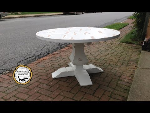 Woodworking : Kitchen Pedestal Table