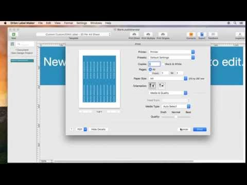 Create label on Mac tutorial: How to print labels rotated 90 degrees