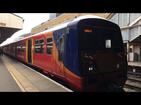 SWR Class 456 021 Ride from London Waterloo to Vauxhall, this train was from Hampton Court