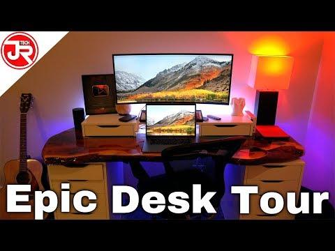 Epic Desk Tour JrTech - Brand New Late 2018 Desk Setup