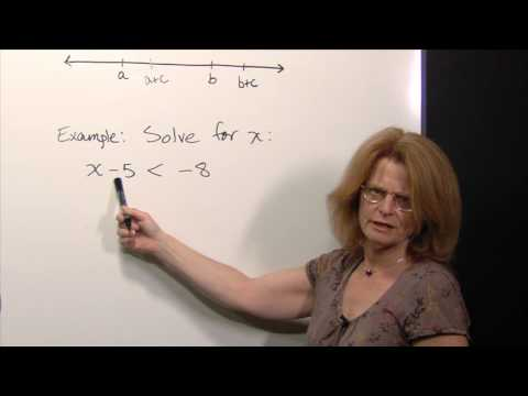 Solving Linear Inequalities Using the Addition Property