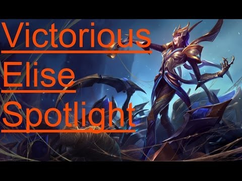 Victorious Elise Skin Spotlight - League of Legends Skin Review [HD]