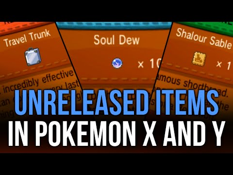 Unreleased Items in Pokémon X and Y