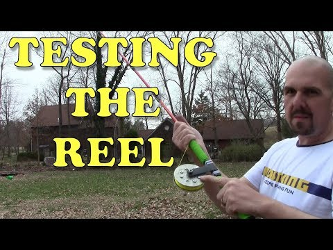 DIY Fishing Rod And Reel Challenge Update - Casting The Reel