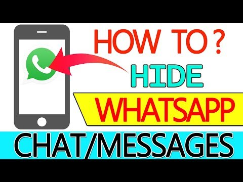 How to Hide WhatsApp CHAT - Hide Conversation, Messages (HINDI/URDU)