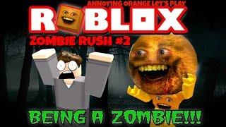 Annoying Orange Plays - ROBLOX: Zombie Rush #2 (Playing as