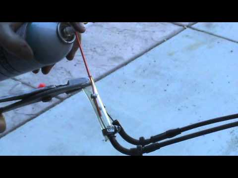 How to lube your motorcycle throttle and clutch cable the cheap way!  No special