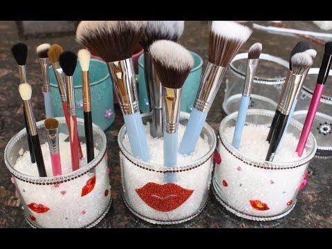DIY Makeup Brush Cups