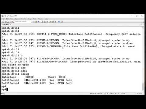 Autonomous AP - Initial Setup & Open SSID Creation