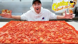 DIY GIANT HOT CHEETOS PIZZA!! *WORLD RECORD*