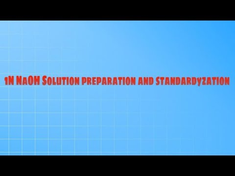 Prepare 1N NaOH solution preparation || 1N NaOH Solution standardyzation || 1N NaOH solution