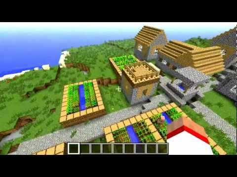 How find easy a NPC Village Minecraft (seed)