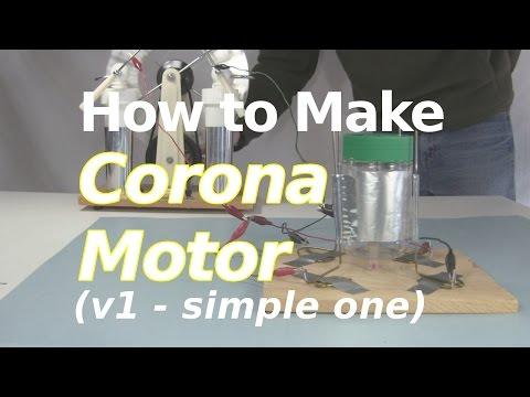 How to Make a Corona Motor (v1/simple) or Electrostatic motor/Atmospheric motor