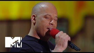 Vin Diesel Sings 'See You Again' For Paul Walker At The Movie Awards | MTV