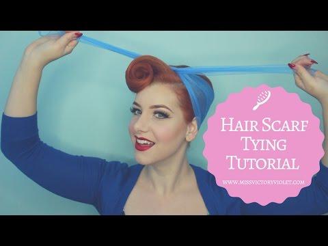 Hair Scarf Tying Tutorial