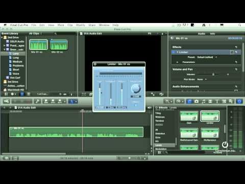 Final Cut Pro X: Apply Limiter Filter to Audio Clips