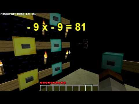 Minecraft calculator can add, subtract and multiply