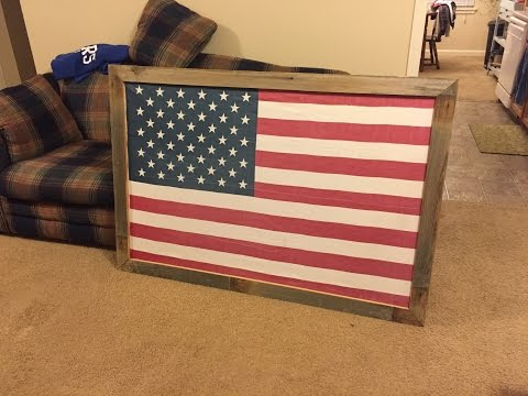 Full size flag frame | how-to (or large picture frame)