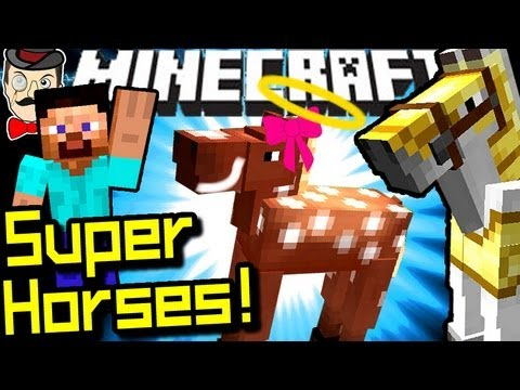 Minecraft BREED SUPER HORSES in 1.6!