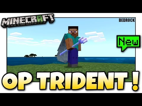 Minecraft - The MOST OP Trident ?! Update Aquatic - MCPE / Xbox / Bedrock
