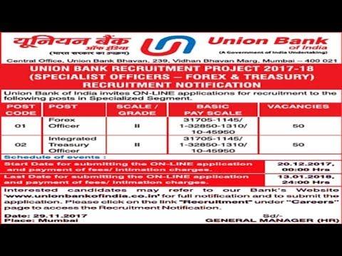 Union Bank of India Recruitment 2018 | Latest Bank Job | Sarkari Naukri