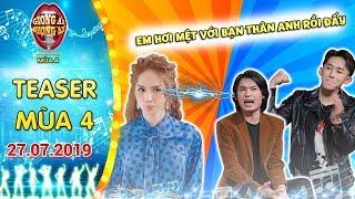 """Giọng Ải Giọng Ai mùa 4  Teaser :Kay Trần toát mồ hôi khi Hương Giang """"hơi mệt"""" bạn thân Quang Trung"""