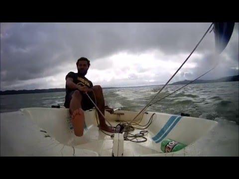 Hobie Holder 12 sailing Lake Keowee - Hobie Cat Holder 14 Sailboat