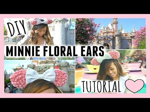 DIY: ❁ Minnie Mouse Floral Ears ❁ @misssjoolie