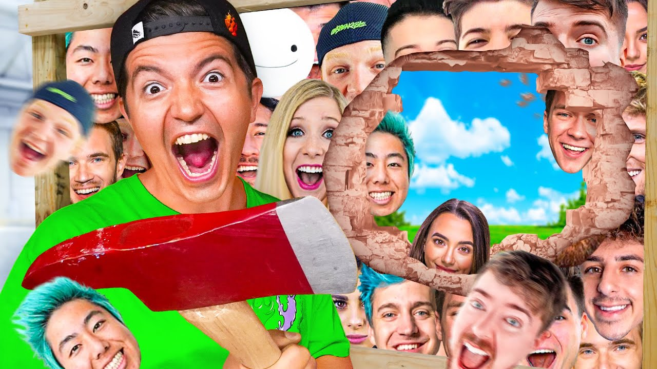 TRAPPED in 100 YouTuber Layers!