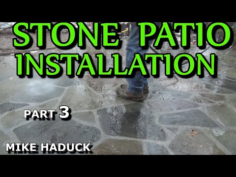 How I install a stone patio (part 3 of 4) Mike Haduck