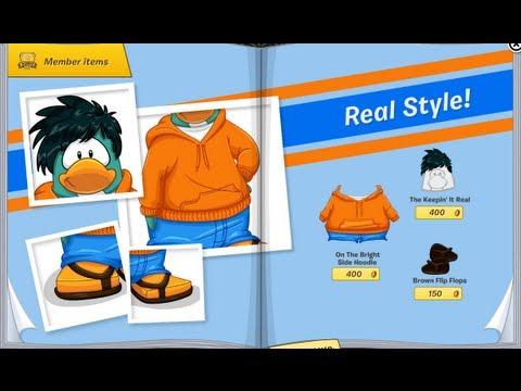 Club Penguin - June 2013 Clothing Catalog Cheats