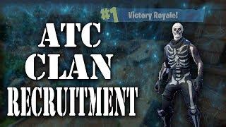 fortnite clan recruitment pc ps4 team atc atcrecruitmentchallenge all - fortnite clan pc
