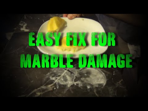 Easy Fix for Marble Damaged by Vinegar or Lemon Juice