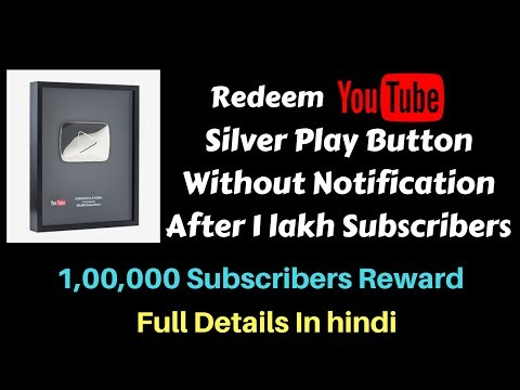 How to Claim YouTube Silver Play Button Without Notification on Dashboard | After 1 Lakh Subscribers