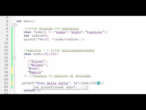 Linguaggio C - Stringhe [parte 3]
