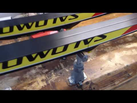 Make Your Own  Side by Side Nordic Ski Wax Bench