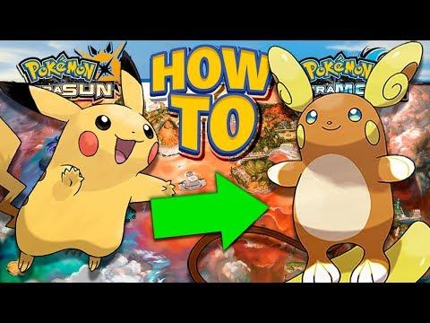 HOW TO Evolve Pikachu into Alolan Raichu in Pokemon Ultra Sun and Moon