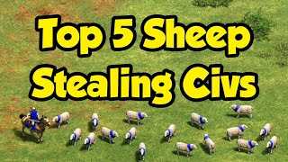 Top 5 Sheep Stealing Civilizations [AoE2]