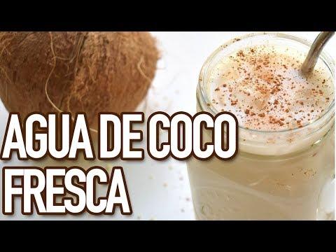 CÓMO HACER AGUA DE COCO | FÁCIL Y RÁPIDA