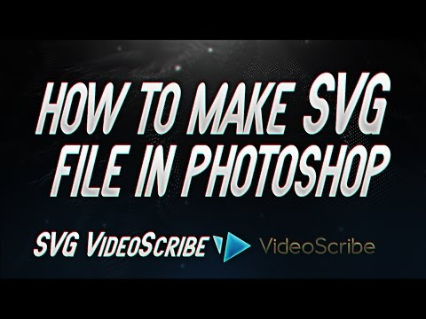 How to make SVG file in Photoshop CC | How to Export in VideoScribe ( Tutorial )