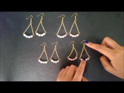 Isosceles Swing Gemstone Earrings