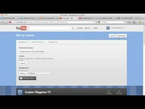 Change YouTube Background: Changing YouTube Channel Background Design