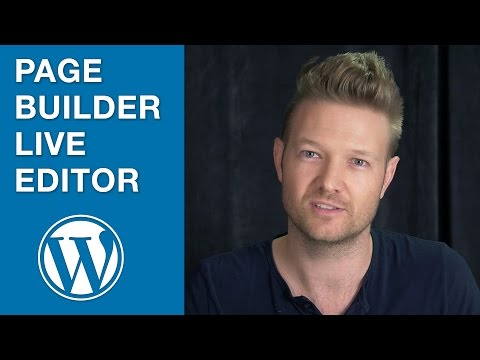 Page Builder's Live Editor