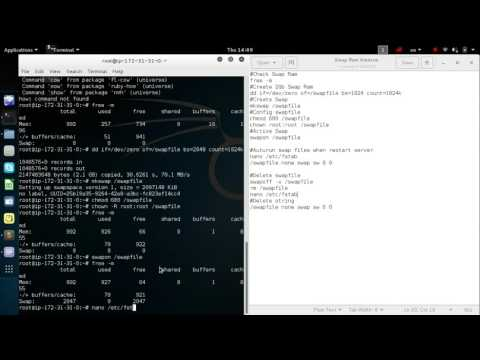 Create Swap Ram on Ubuntu