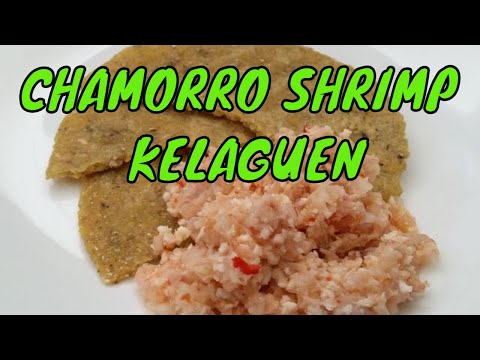 Shrimp kelaguen or shrimp-lemon-coconut salad