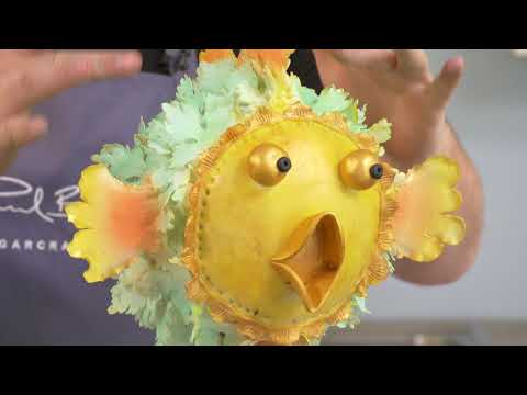 Learn how to make a floating puffer fish cake
