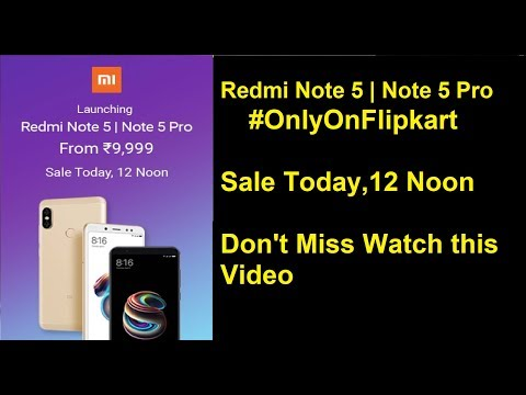 Redmi Note 5 and Redmi Note 5 Pro second sale to take place tomorrow