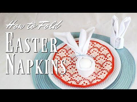 Bunny Napkin Fold 2 ways